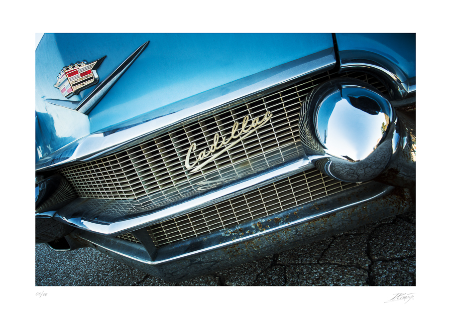 Cadillac bleu - Austin - Texas - USA