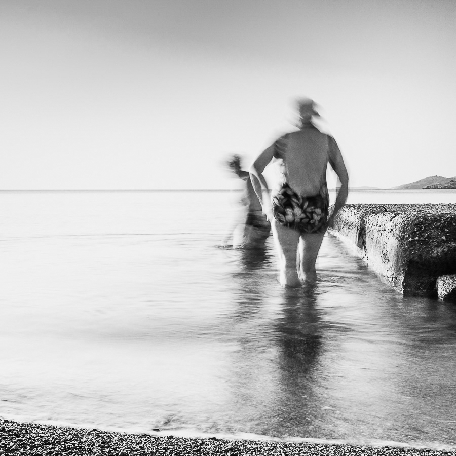 Morning Dip Poros Greece